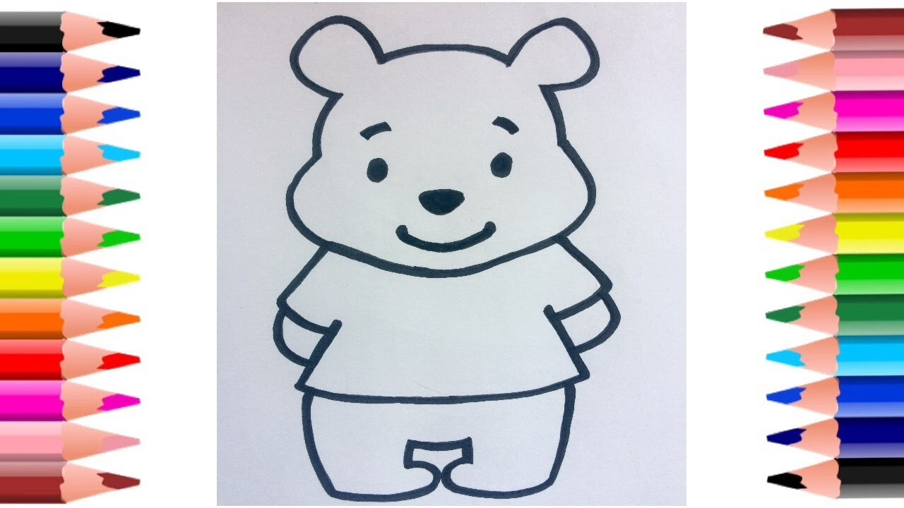 1280x720 How To Draw Winnie The Pooh Bear Easy Step By Step Drawing Video