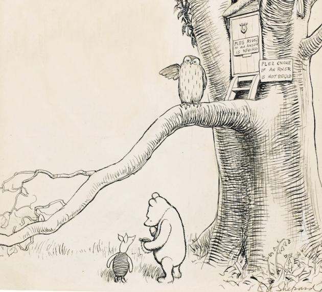 630x572 Winnie The Pooh Sketch Goes Under The Hammer With Estimate