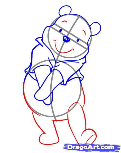 497x629 How To Draw Pooh Step 4 Comic Disney Drawings