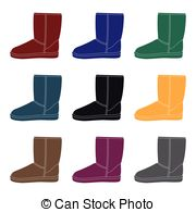 180x195 Warm Winter Blue Ugg Boots. Comfortable Winter Shoes