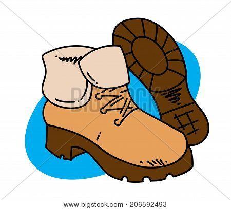 450x410 Winter Boots Cartoon Hand Drawn Vector Amp Photo Bigstock