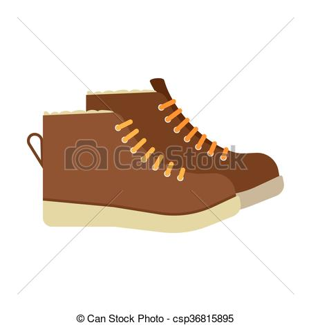 450x470 Winter Boots Flat Icon. Vector Illustration. Flat Icon Eps