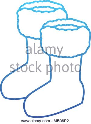 300x408 Winter Boots Shoes Icon Vector Illustration Design Stock Vector