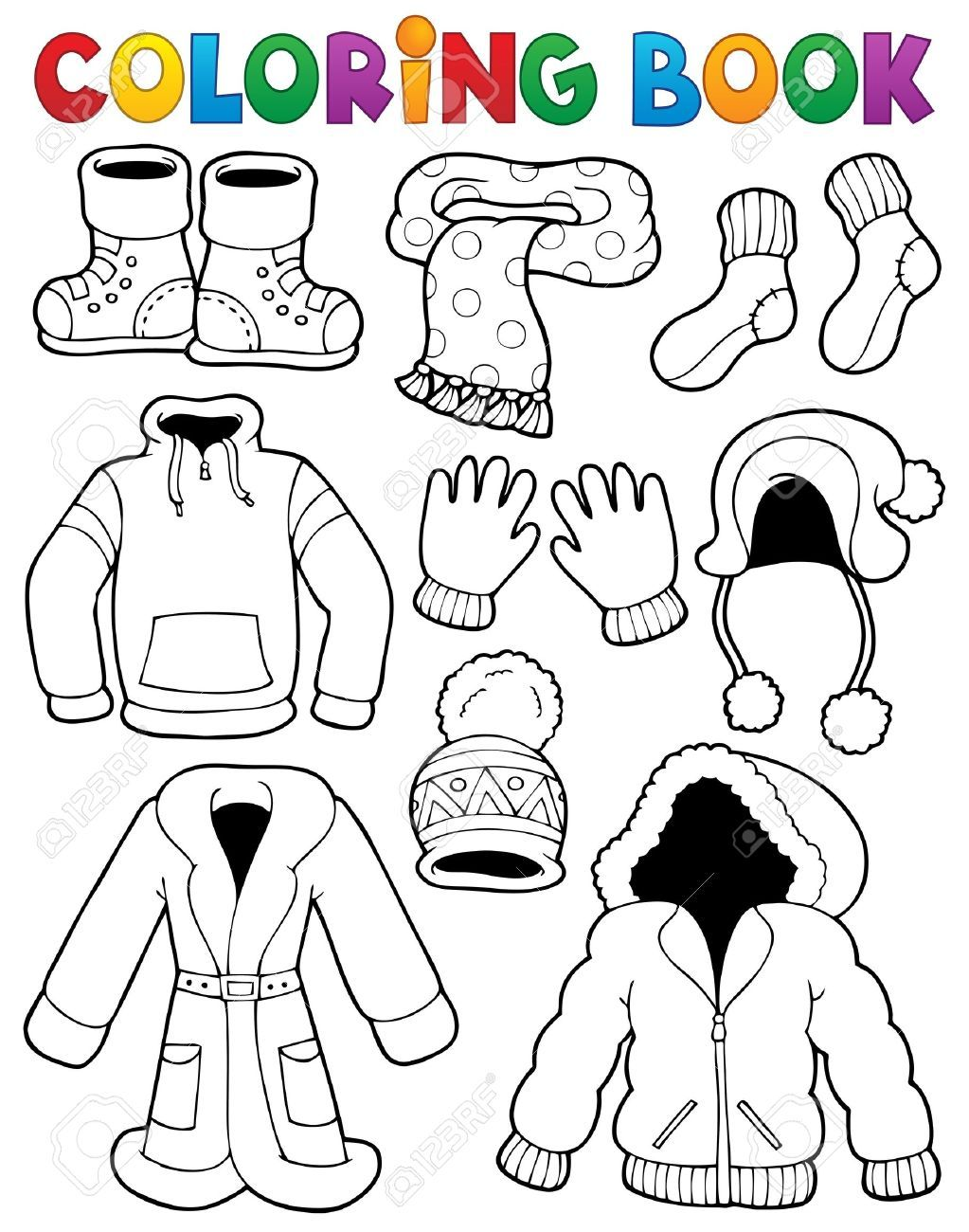 Winter Clothes Drawing at GetDrawings.com | Free for personal use ...