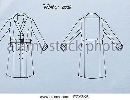 417x320 Fashion Technical Handmade Draw, Drawing, Sketch Of A Man Jacket