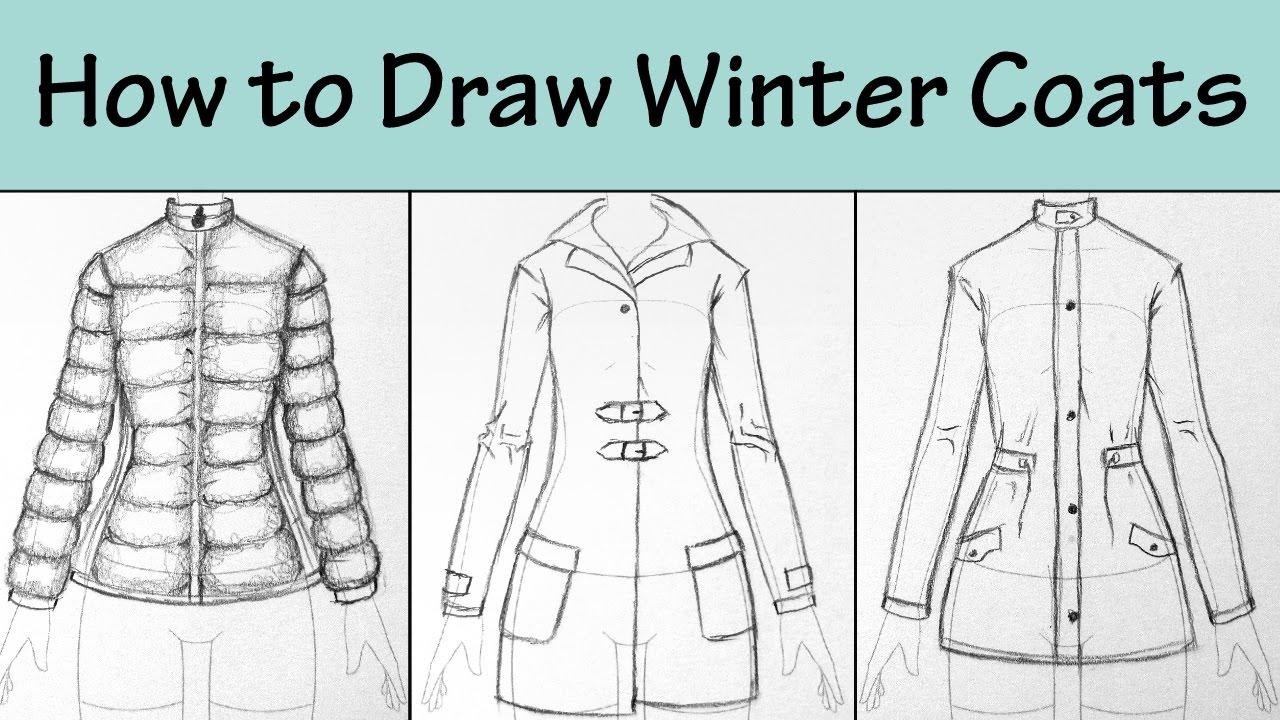 1280x720 How To Draw Winter Coats 3 Ways.