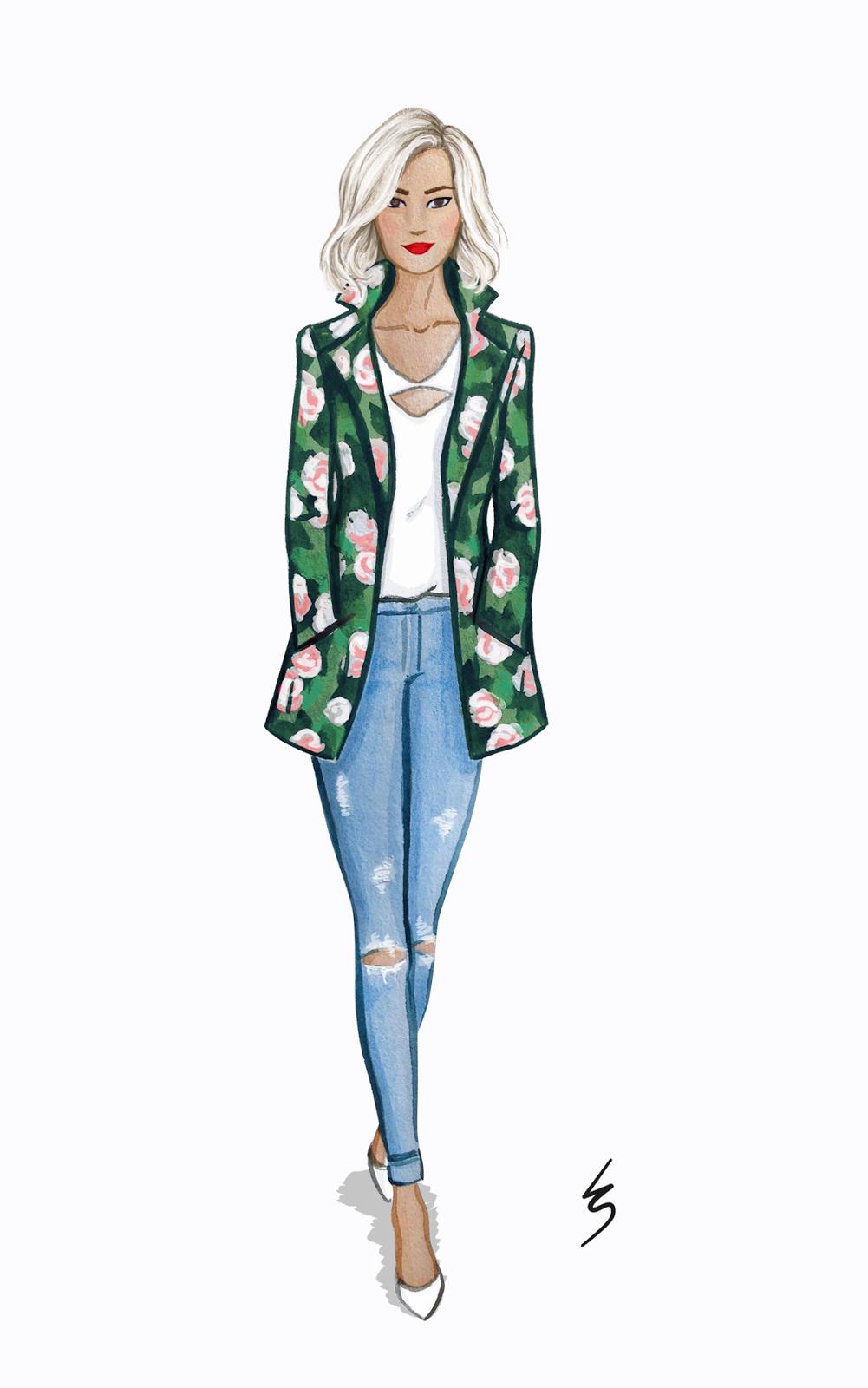 1001x1600 Lydia Snowden Illustration. Fashion Illustration. Floral Print