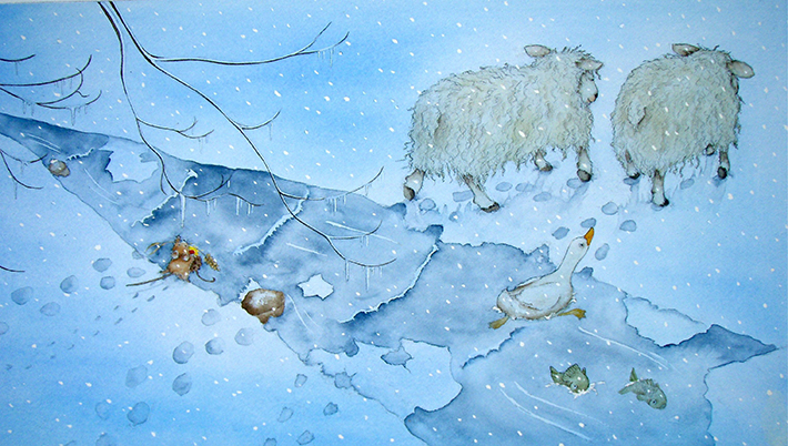 710x402 Create A Winter Wonderland! Learn How To Draw Snow