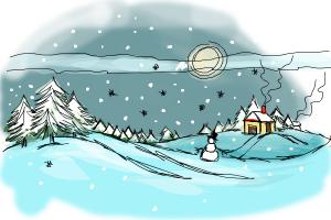 300x200 How To Draw A Winter Scene