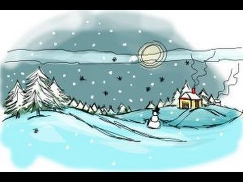 480x360 How To Draw A Winter Scene