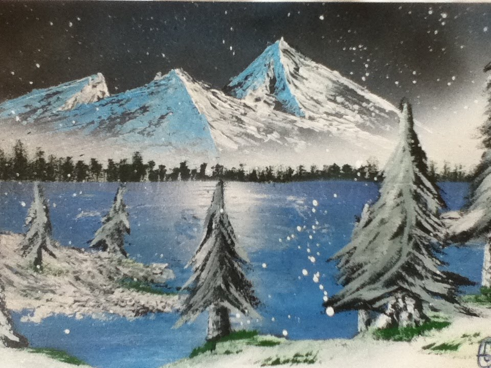 960x720 Speed Drawing Nr.1 Space Painting Winter Scene