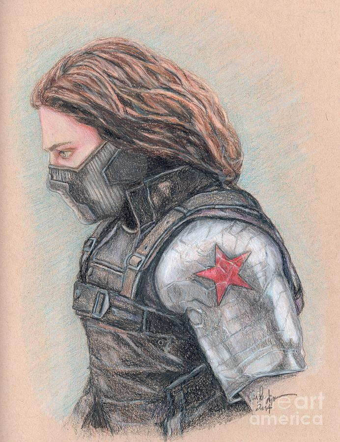 692x900 Captain America Winter Soldier Drawing By Christine Jepsen