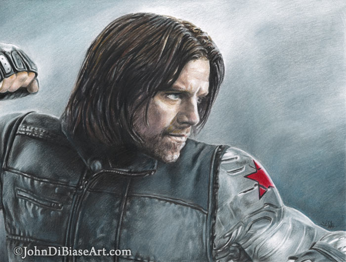 700x531 Colored Pencil Drawing Of Sebastian Stan As The Winter Soldier