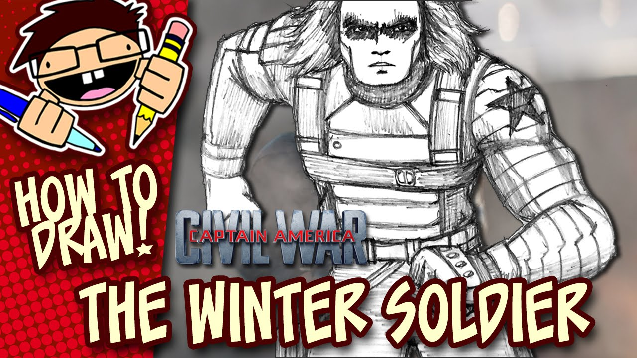 1280x720 How To Draw The Winter Soldier (Captain America Civil War) Step