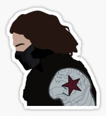 210x230 Winter Soldier Drawing Stickers Redbubble