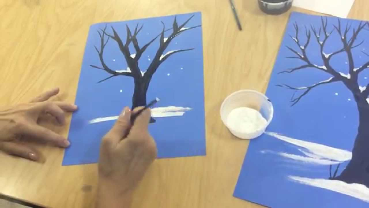 1280x720 Flipped Classroom How To Draw A Winter Tree