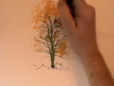 480x360 How To Paint A Winter Tree In Watercolor