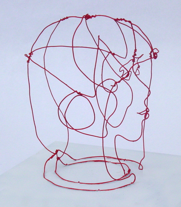 701x800 3d Wire Sculptures By Fritz Panzer 3d, Drawings And 3d Drawings