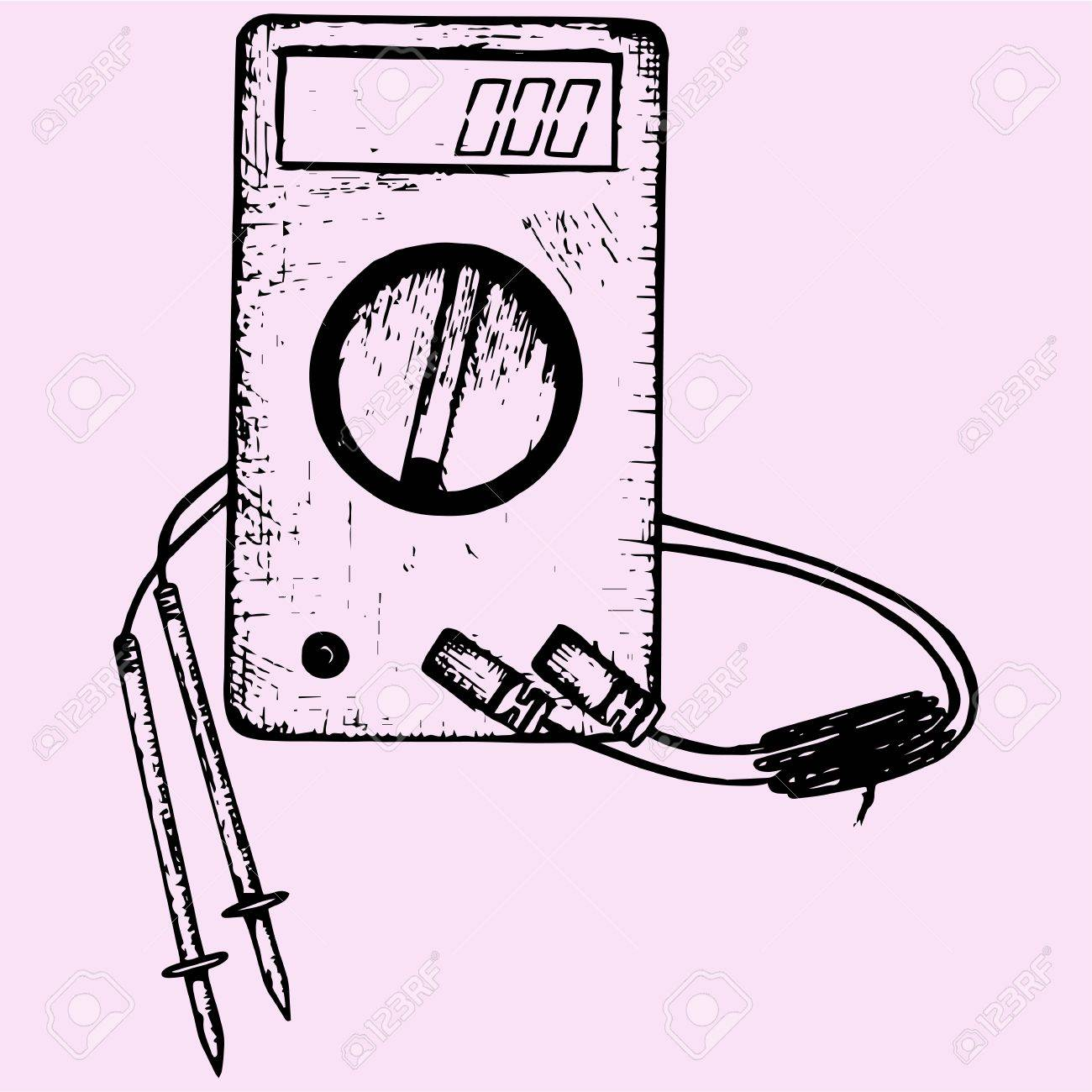 1300x1300 Digital Multimeter With Wires Shows 0 Volts On Lcd Display