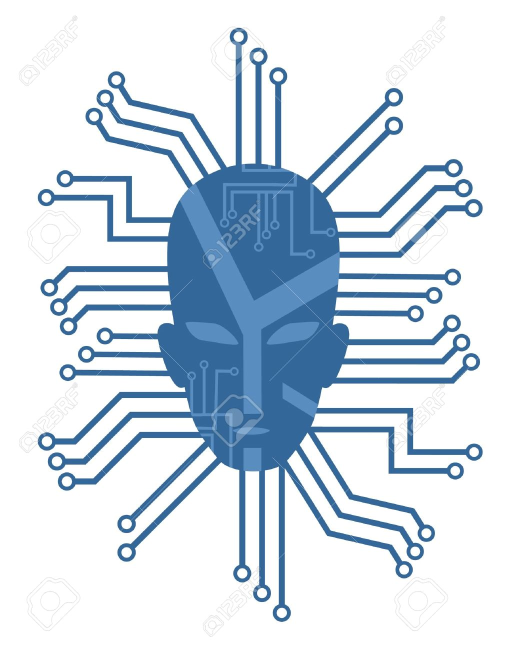 1040x1300 Head Drawing With Many Wires Royalty Free Cliparts, Vectors,