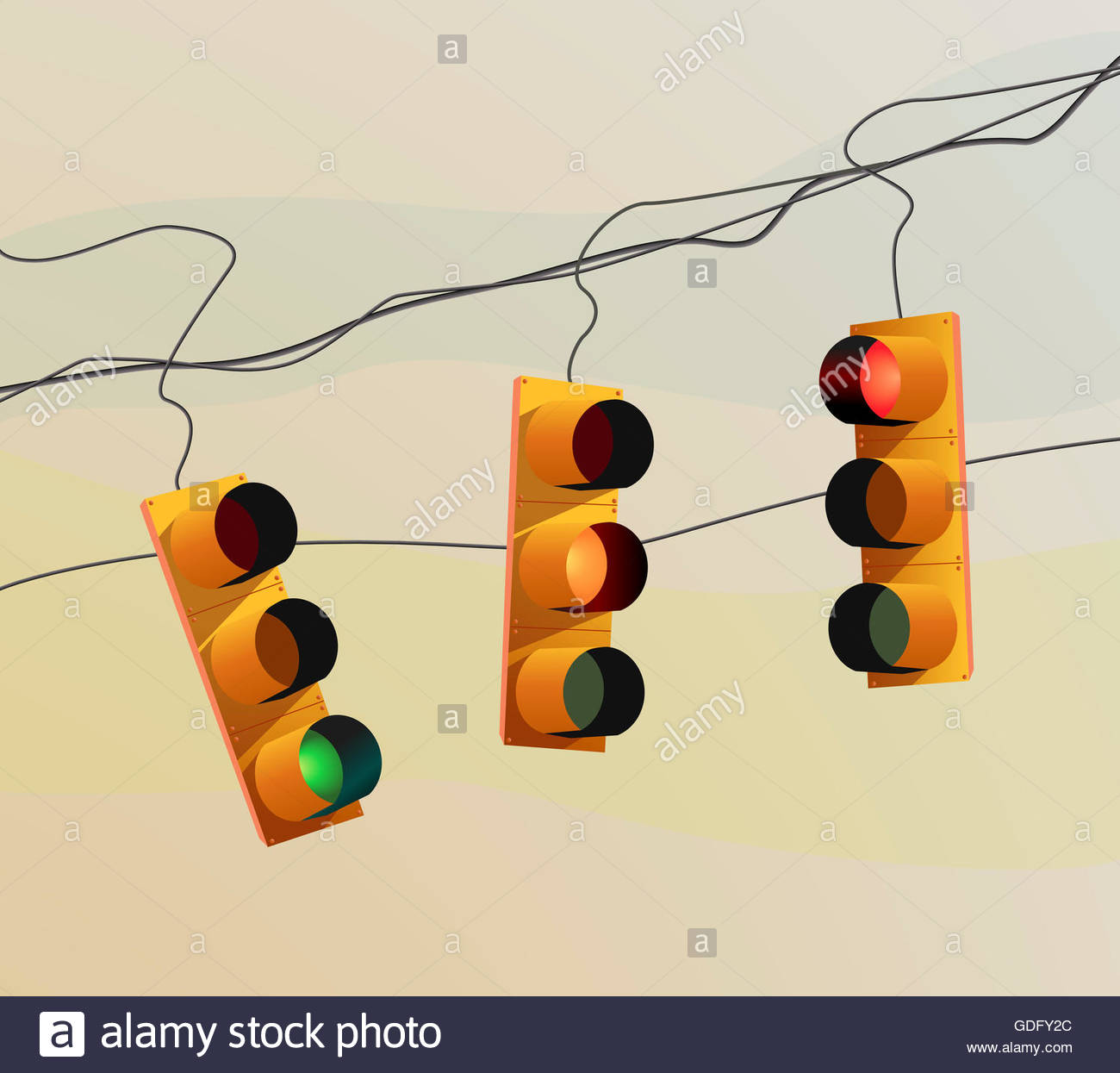 1300x1245 Illustration Or Drawing Of Some Traffic Lights Hanging From Some