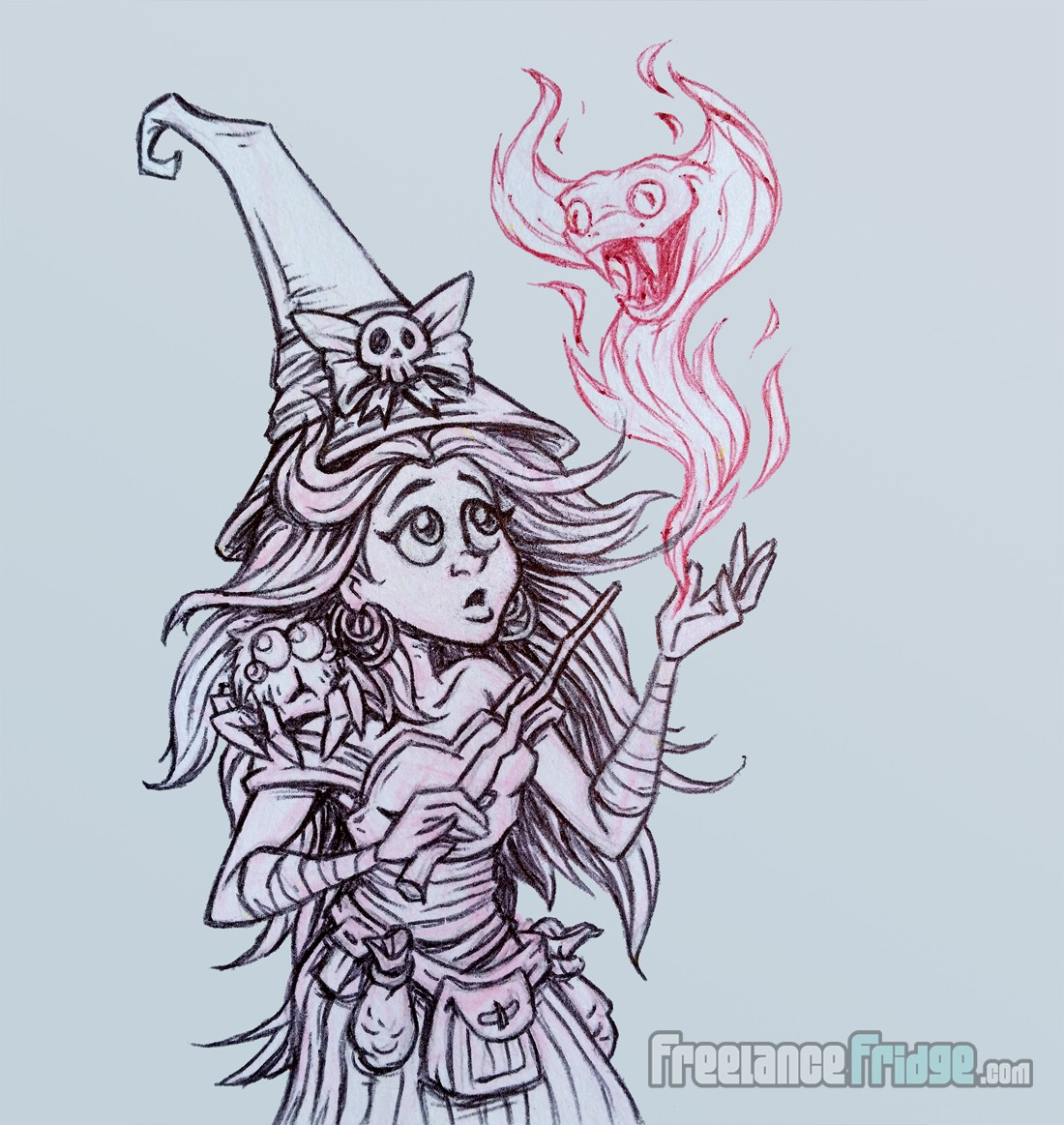 1100x1163 Cute Witch Sketch Freelance Fridge Illustration Amp Character Design