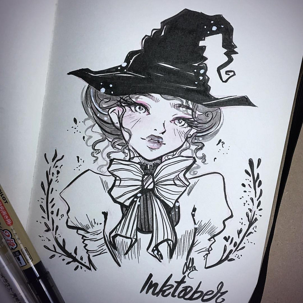 1024x1024 Victorian Witch! Loved Using This Dual Pilot Brush Pen