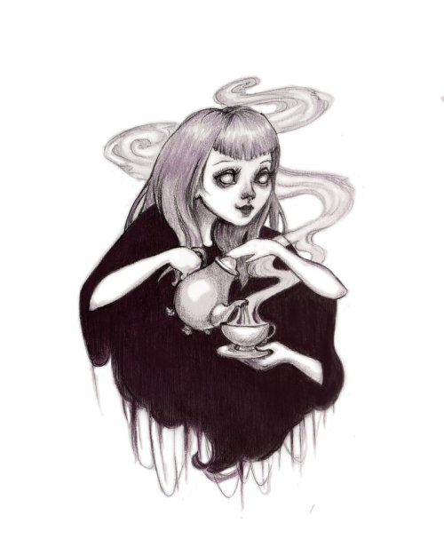 500x625 Drawing Tea Witch Surreal Drawing Goth Drawing Artagainstsociety