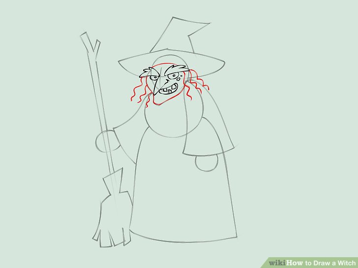 728x546 How To Draw A Witch (With Pictures)