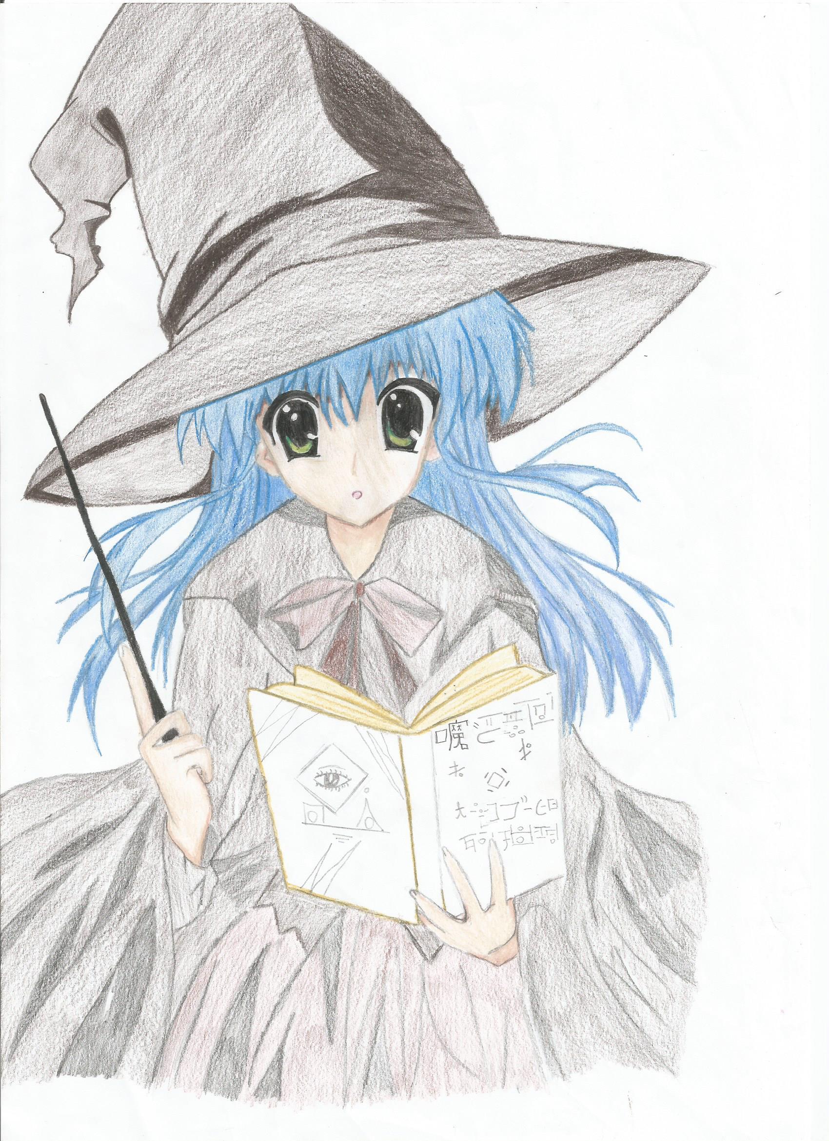1700x2338 Draw Anime Witch Meus Desenhos Anime Witch And Anime