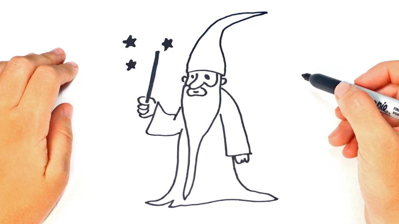 1280x720 How To Draw A Wizard Step By Step Wizard Drawing Lesson