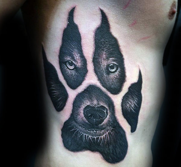 600x554 50 Wolf Paw Tattoo Designs For Men