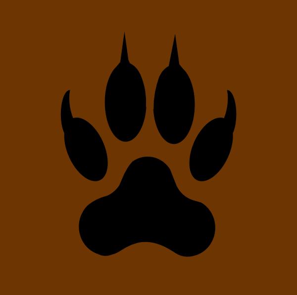 600x597 Wolf Paw Print Clip Art