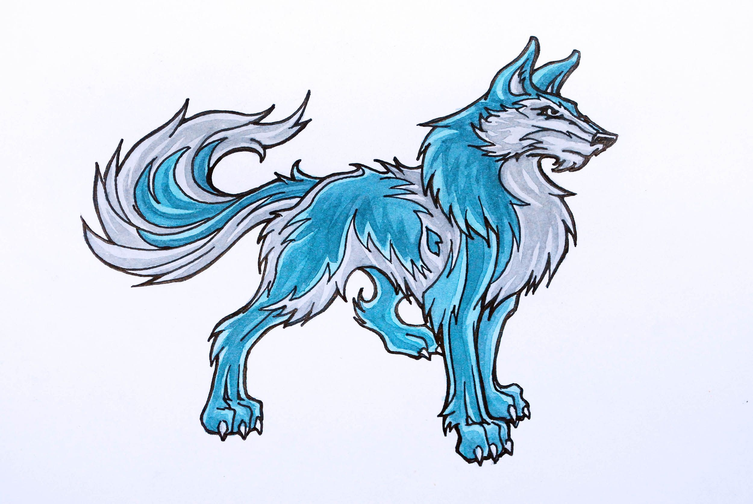 Wolf Drawing Anime at GetDrawings.com | Free for personal use Wolf ...