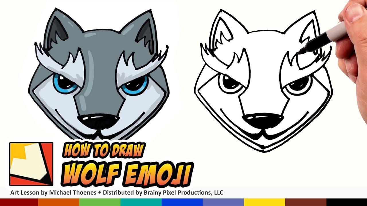 1280x720 How To Draw Emojis Wolf