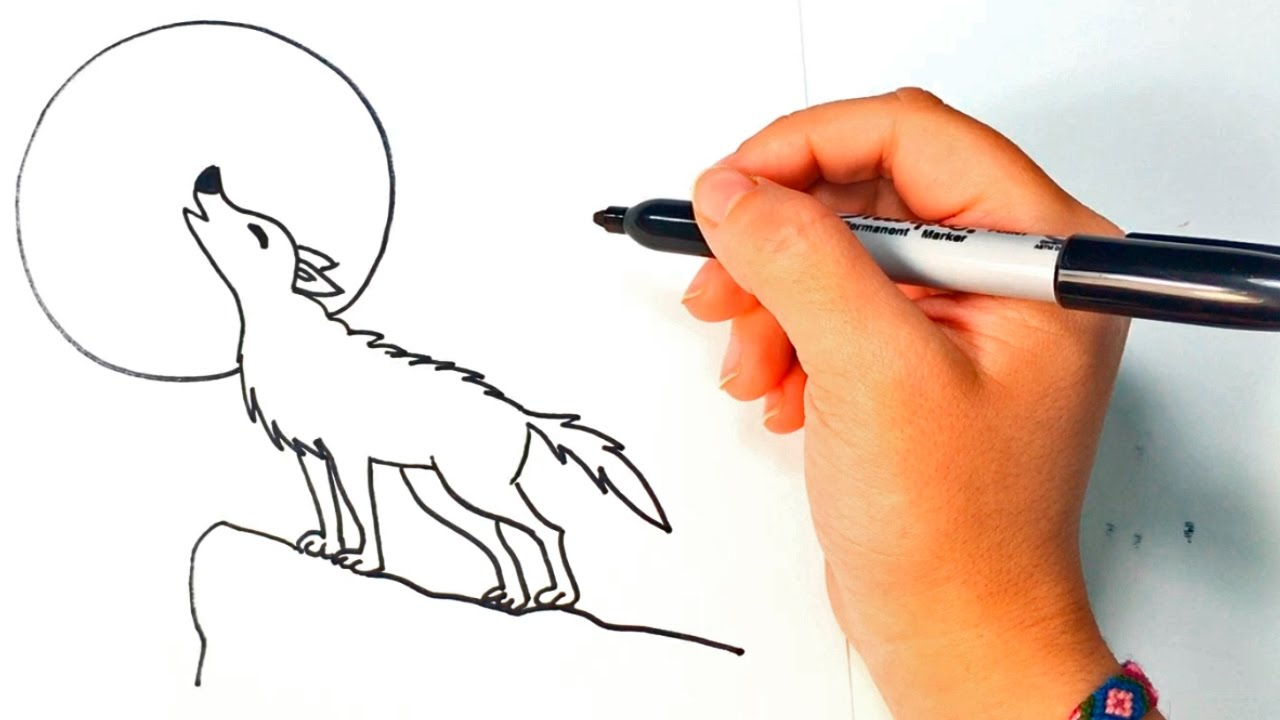 Lineart Wolf Tattoo : Wolf drawing easy at getdrawings.com free for personal use