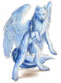 236x320 Anime Ice Wolf With Wings Wallpapers Gallery Dragons