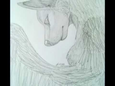 480x360 Drawing A Wolf With Wings