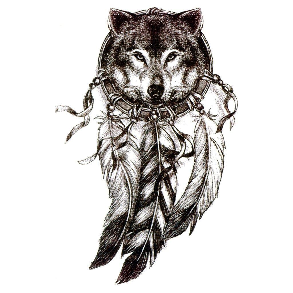 1024x1024 Temporary Tattoo Dreamcatcher Wolf Dreamcatcher 2