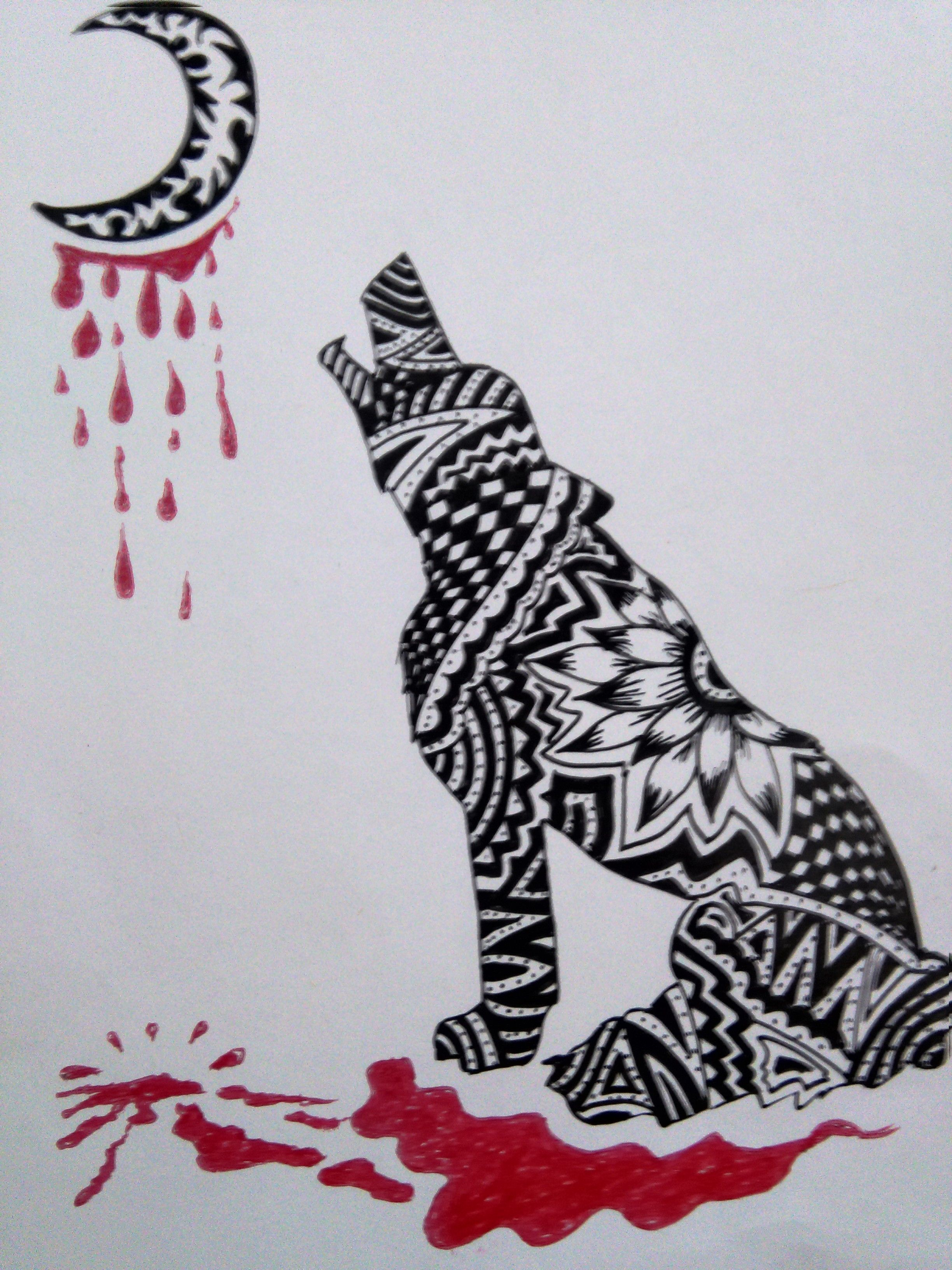 2448x3264 Lonely Wolf Easy Drawing Drawing By Ramos Easy