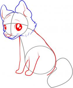 250x302 How To Draw An Easy Wolf Step 3 Drawing Wolf