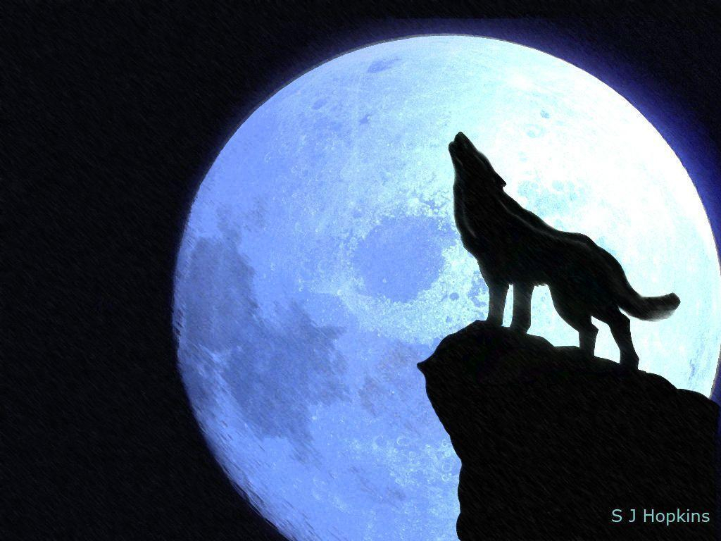 1024x768 Drawing Of A Wolf Howling At The Moon Wolf Howling At The Moon
