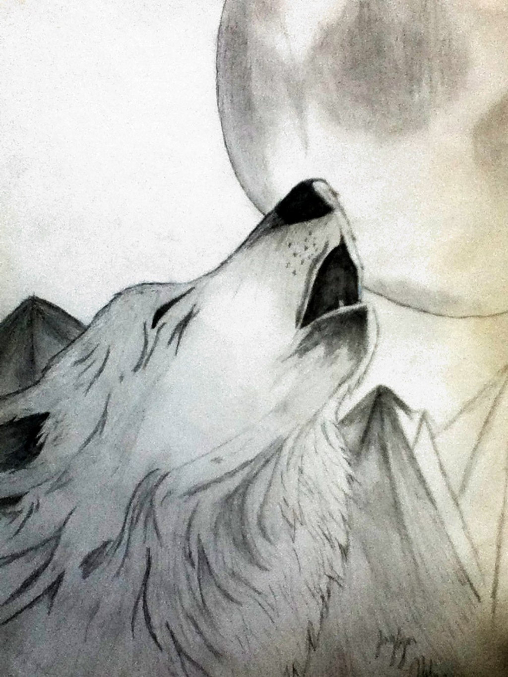 1024x1365 How To Draw A Wolf Howling At Moon