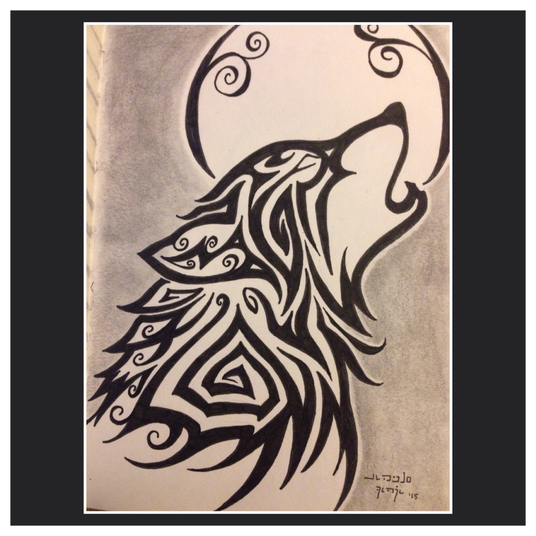 1774x1774 Pencil Drawings Of Wolves Howling At The Moon Drawn Howling Wolf