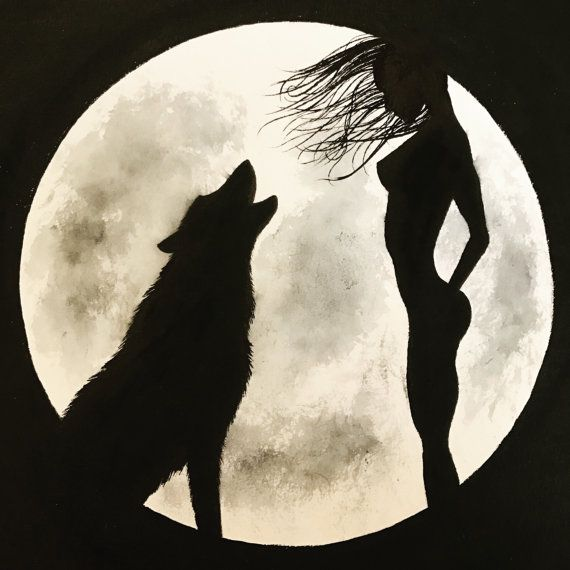 570x570 Wolves Howling To The Moon Homepage Digital Art 1