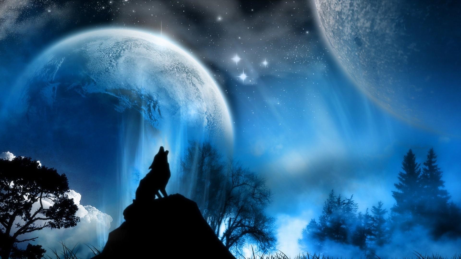 Wolf Howling At The Moon Drawing at GetDrawings | Free ...