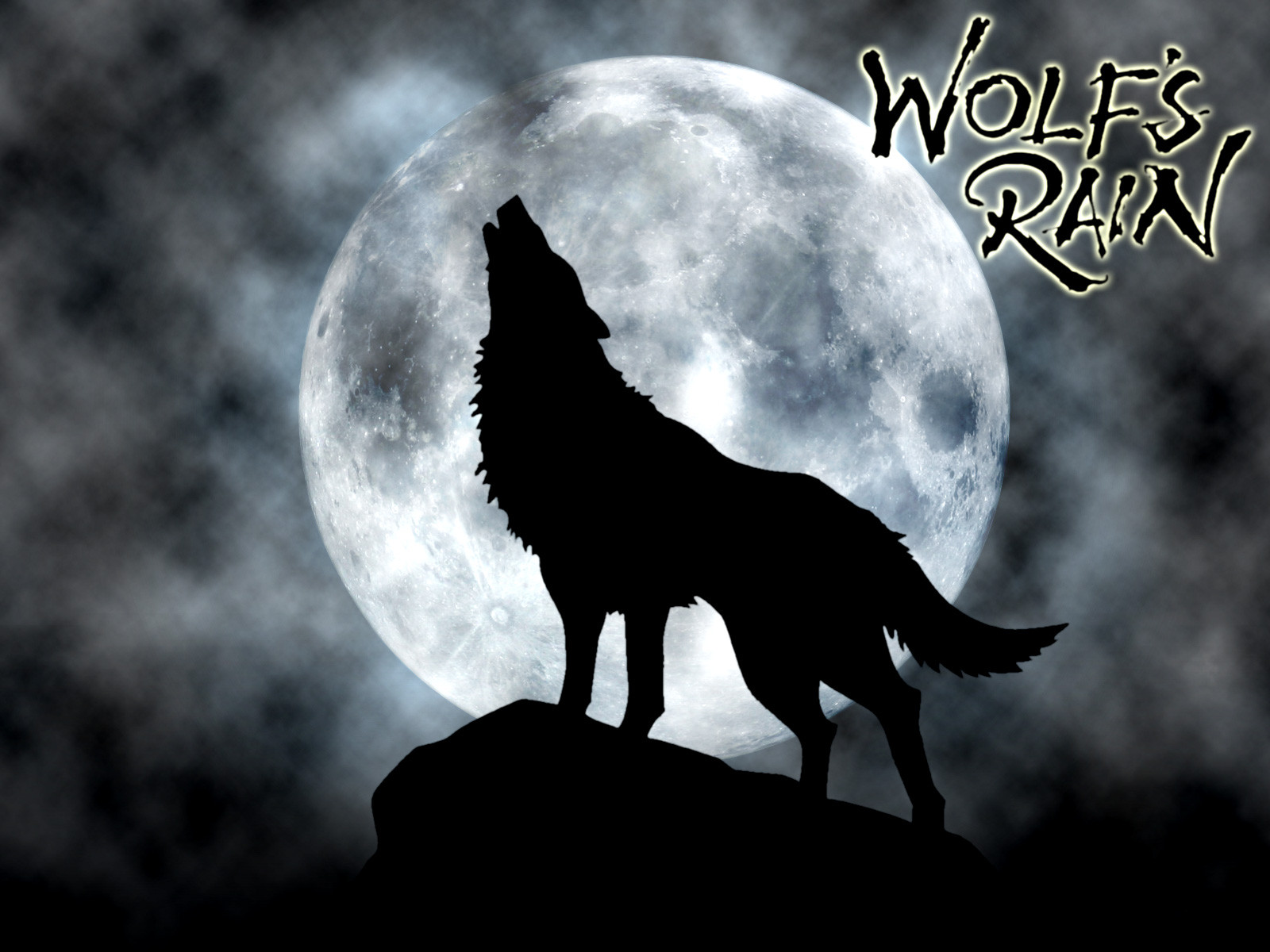 1600x1200 Drawn Howling Wolf Red Moon