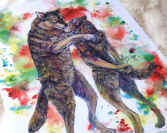 340x270 Hug Wolf Etsy