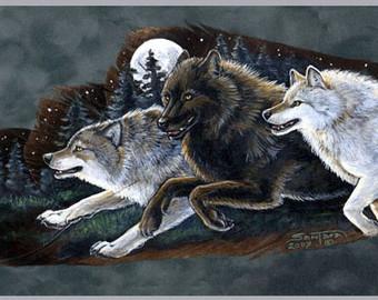 340x270 Running wolf Etsy