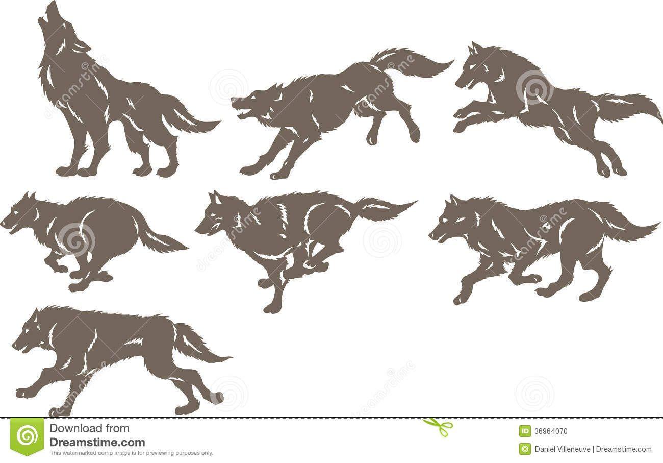 1300x907 WOLF RUNNING SILHOUETTE